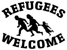 Refugees Welcome! Flüchtlinge Willkommen! This will lead you to text in English (and some Arabic).
